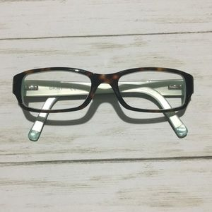 DKNY Eyeglass Frames In Tortoise and Mint